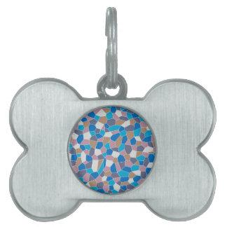 Mosaic Pattern Pet Tags