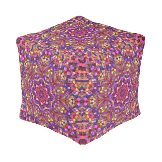 Mosaic Pattern   Pouf Cube, 2 sizes