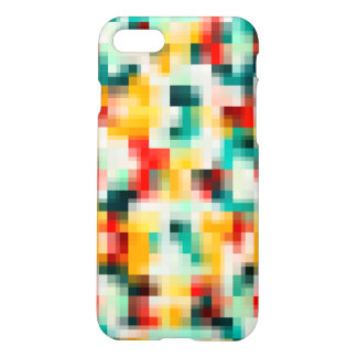 Mosaic Pattern - Red Green Yellow White iPhone 8/7 Case