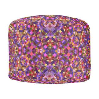 Mosaic Pattern  Round Poufs