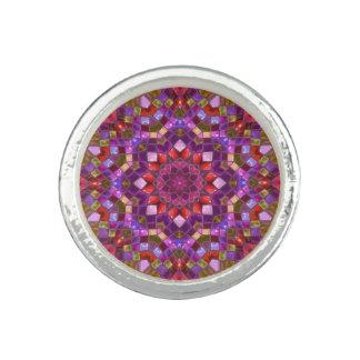 Mosaic Pattern Round Ring