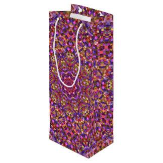Mosaic Pattern   Vintage Kaleidoscope    Wine Bags