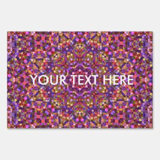 Mosaic Pattern  Yard Signs, 3 sizes