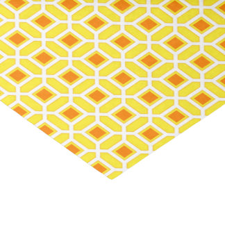 Mosaic Pattern Yellow and Orange Tissue Paper