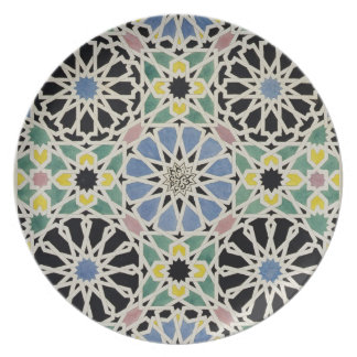 Mosaic Pavement in the Alhambra, from 'The Arabian Plate