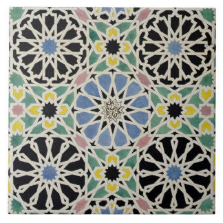 Mosaic Pavement in the Alhambra, from 'The Arabian Tile