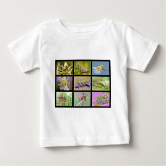 Mosaic photos of grasshoppers baby T-Shirt