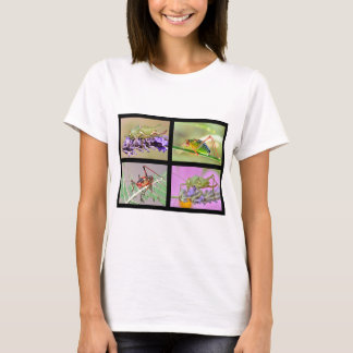 Mosaic photos of grasshoppers T-Shirt