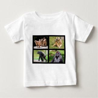 Mosaic photos of monkeys baby T-Shirt
