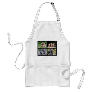 Mosaic photos of monkeys standard apron