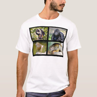 Mosaic photos of monkeys T-Shirt