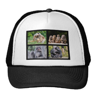 Mosaic photos of monkeys trucker hat