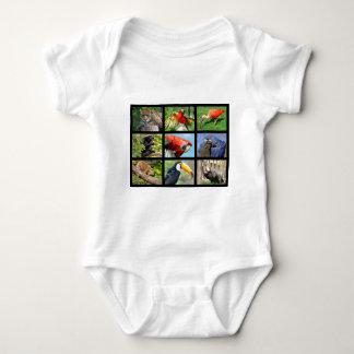 mosaic photos South American animals Baby Bodysuit