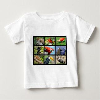 mosaic photos South American animals Baby T-Shirt