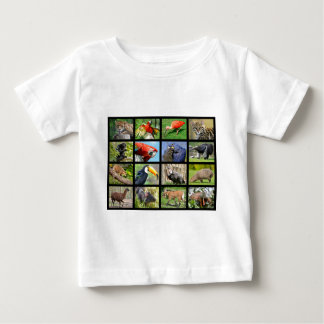 mosaic photos South American animals Baby T-Shirt