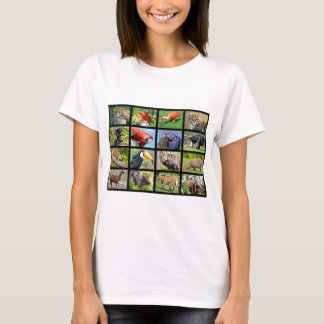 mosaic photos South American animals T-Shirt