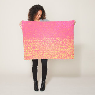 Mosaic Pink Lemonade Fleece Blanket