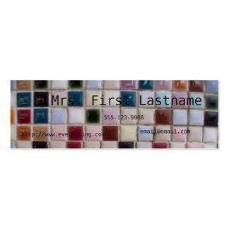 Mosaic Profile Card Mini Business Card