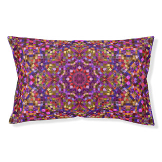 Mosaic Purple Pattern  Vintage Dog Bed