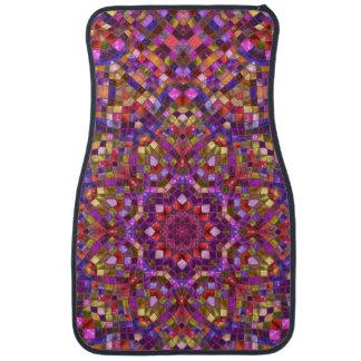 Mosaic  Purple Vintage Car Floor Mats  Front