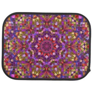 Mosaic  Purple  Vintage Car Floor rear Car Mat