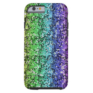 Mosaic Puzzle in gradient colors- customisable. Tough iPhone 6 Case