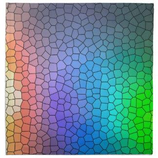 Mosaic Rainbow Napkin