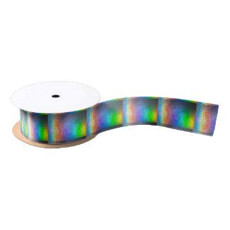 Mosaic Rainbow Satin Ribbon