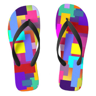 MOSAIC rectangles squares colored I + your ideas Flip Flops