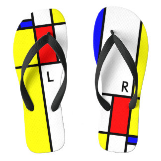 MOSAIC rectangles squares colored II + your ideas Flip Flops