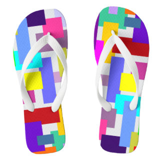 MOSAIC rectangles squares colored IV + your ideas Flip Flops