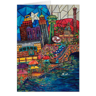 Mosaic San Antonio Greeting Card