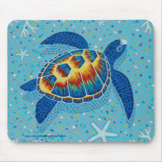 Mosaic Sea Turtle Mouse Pad