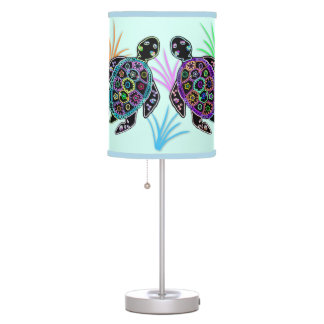 Mosaic Sea Turtles Lampshade Table Lamp