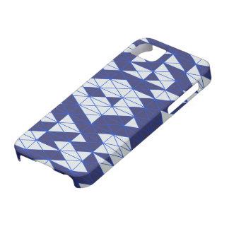 Mosaic series : Dark Blue - White iPhone 5 Covers