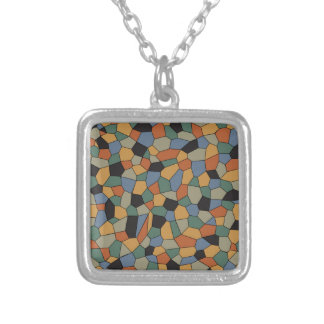 Mosaic Silver Plated Necklace