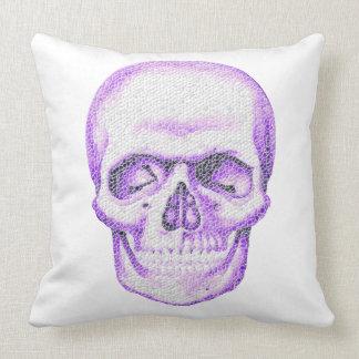 Mosaic Skull Throw Pillow