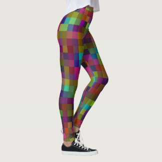 Mosaic Small Square Coloured Pattern, Leggings