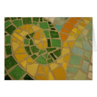Mosaic Spiral Card