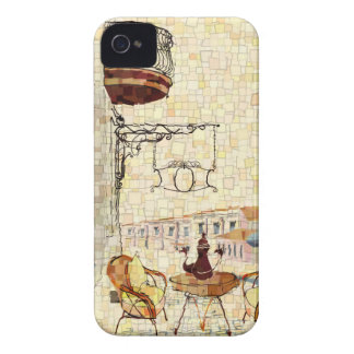 Mosaic Street Cafe Case-Mate iPhone 4 Case