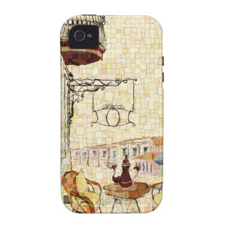 Mosaic Street Cafe iPhone 4 Covers