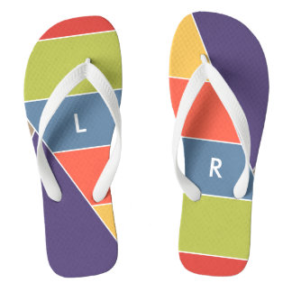 MOSAIC stripes triangles colored I + your ideas Flip Flops