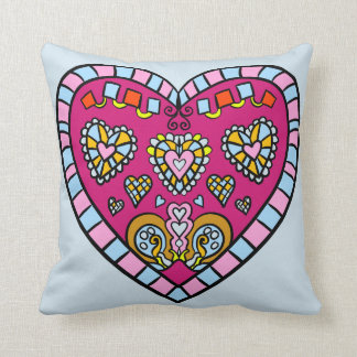 Mosaic Style Heart Designs Pillow