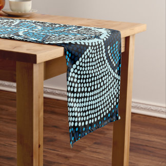 Mosaic sun short table runner