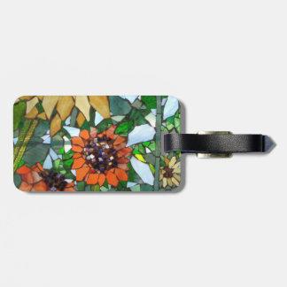 Mosaic Sunflowers Luggage Tag