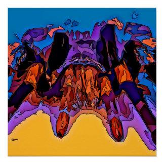 Mosaic Tarantula Poster