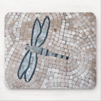 mosaic tile art of a dragonfly mouse pad