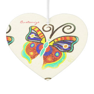mosaic tile butterfly air freshener