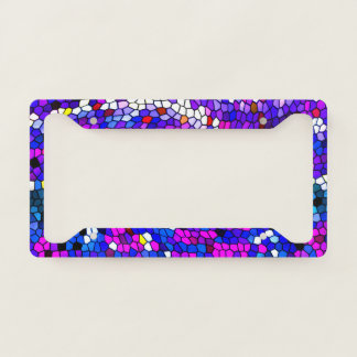 Mosaic Tile Pattern License Plate Frame
