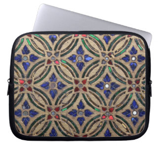 Mosaic tile pattern stone glass Moroccan photo Laptop Sleeve